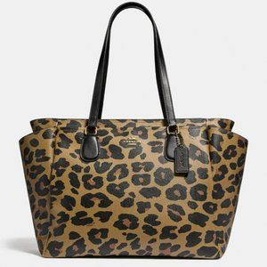 NWT Coach Baby Bag W Leopard Print Handbag